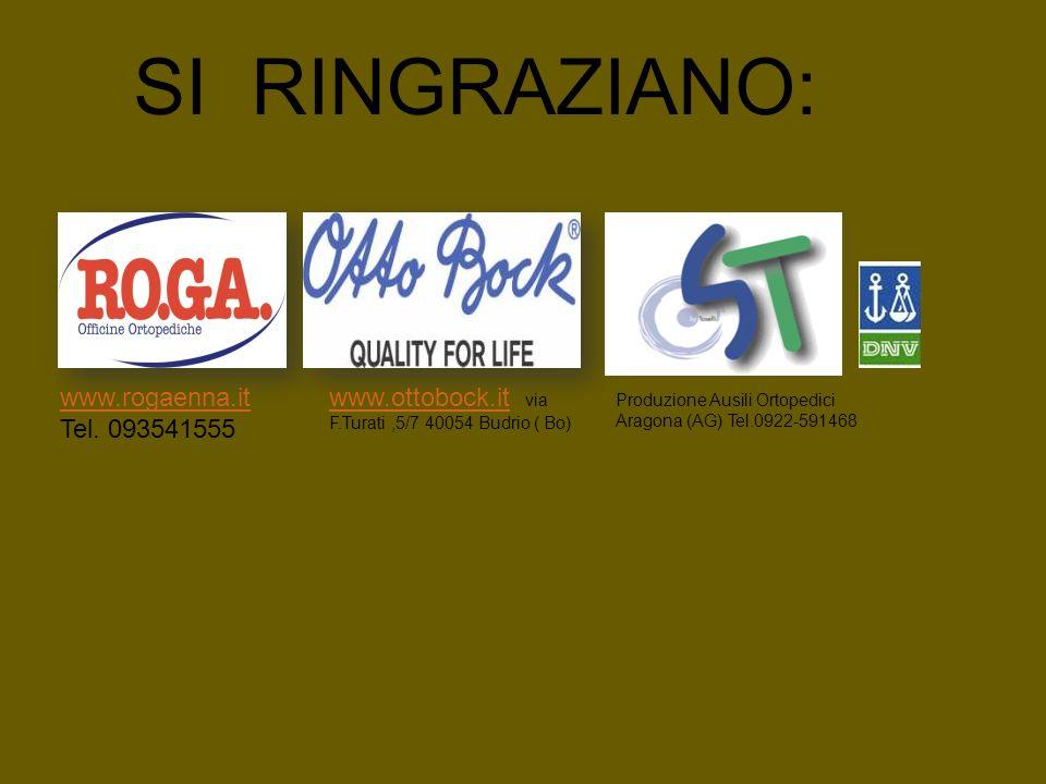 SI RINGRAZIANO: www.rogaenna.it Tel. 093541555