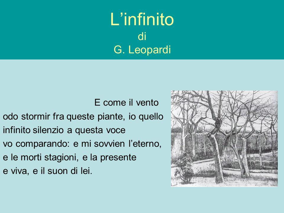 L'infinito di G. Leopardi