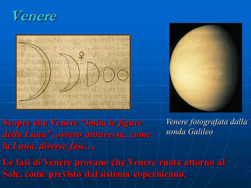 Venere Scopre che Venere imita le figure della Luna , ovvero attraversa, come la Luna, diverse fasi….