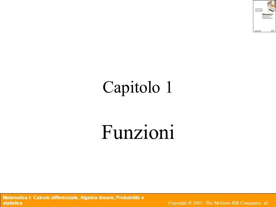 Capitolo 1 Funzioni
