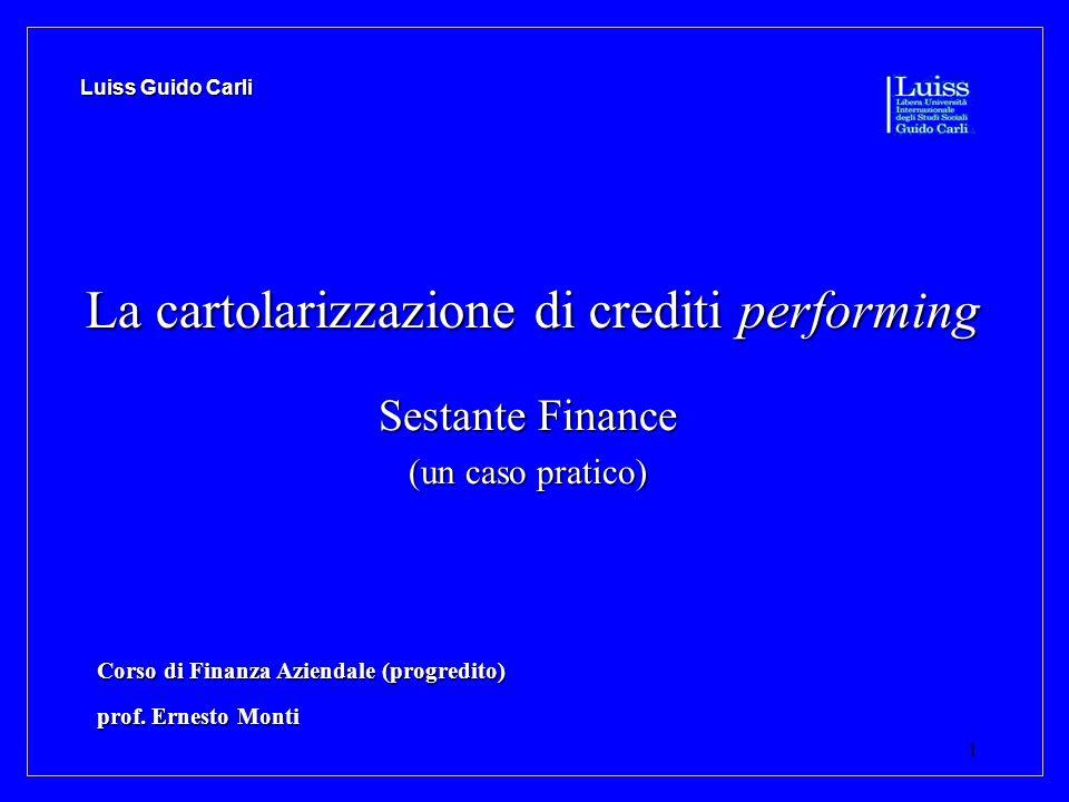 La cartolarizzazione di crediti performing