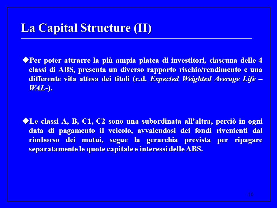 La Capital Structure (II)