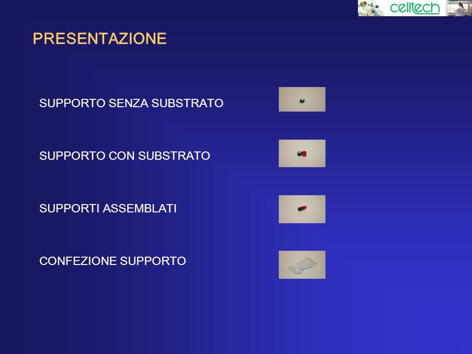 PRESENTAZIONE SUPPORTO SENZA SUBSTRATO SUPPORTO CON SUBSTRATO