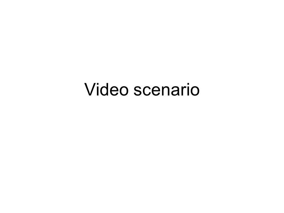 Video scenario