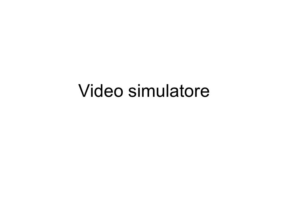 Video simulatore