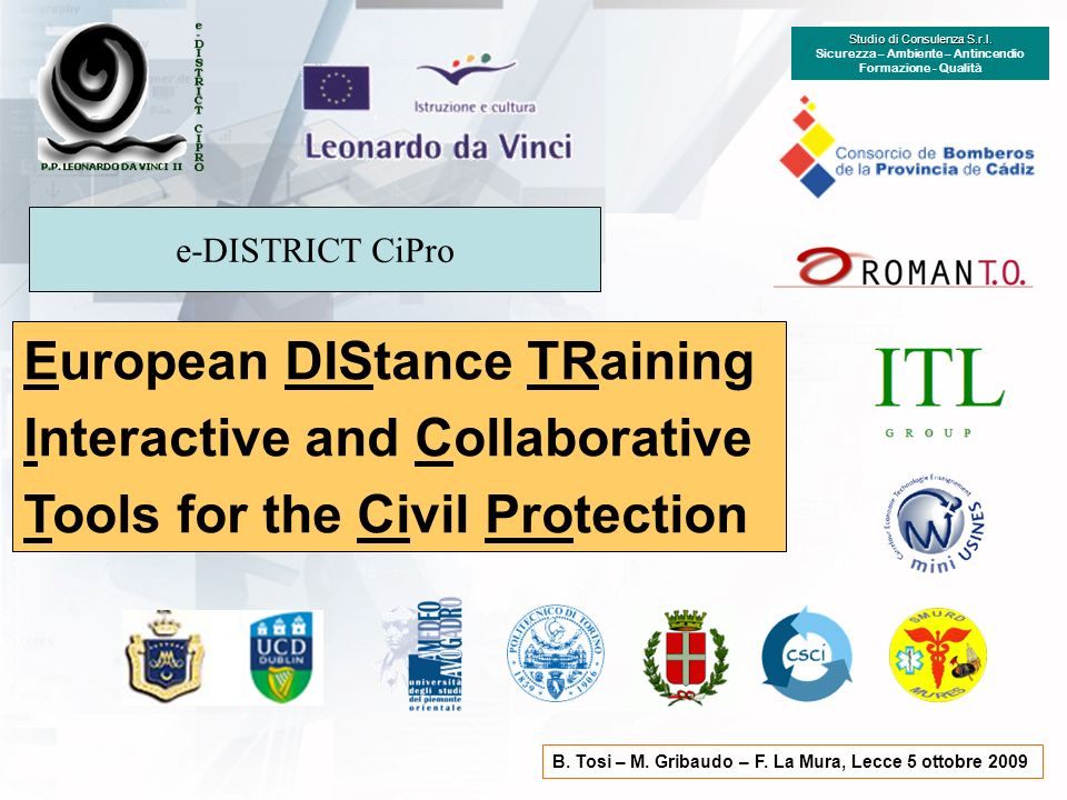 European DIStance TRaining Interactive and Collaborative