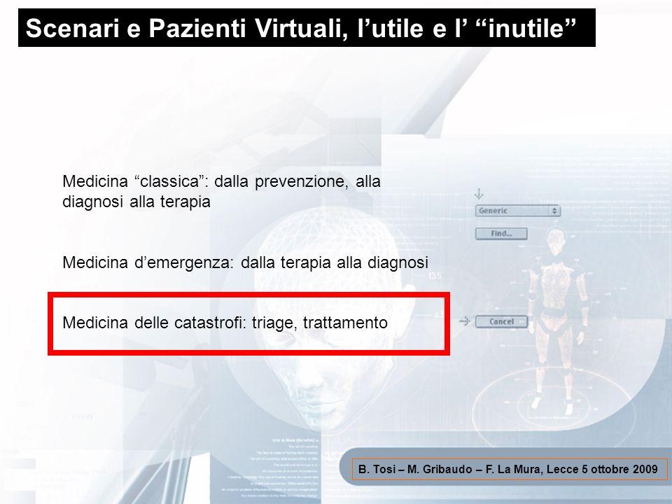Scenari e Pazienti Virtuali, l'utile e l' inutile