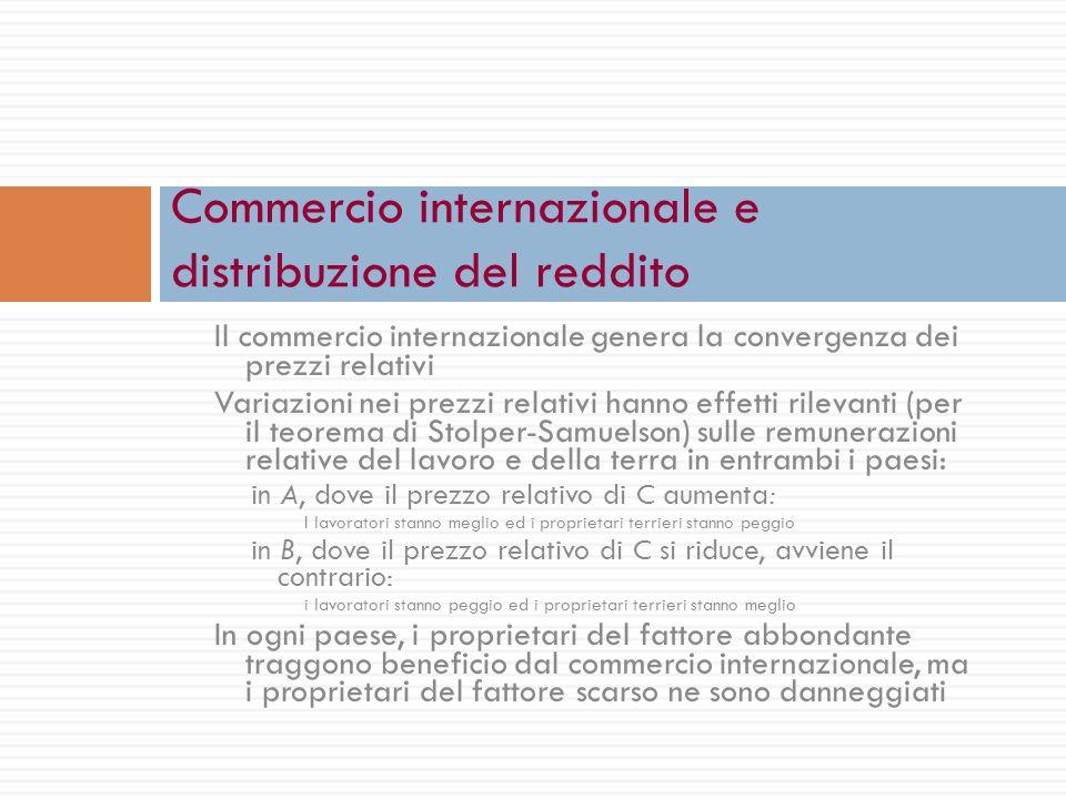 Commercio internazionale e distribuzione del reddito