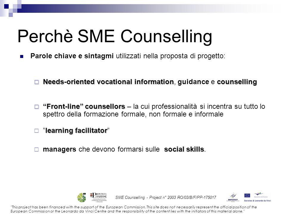 Perchè SME Counselling