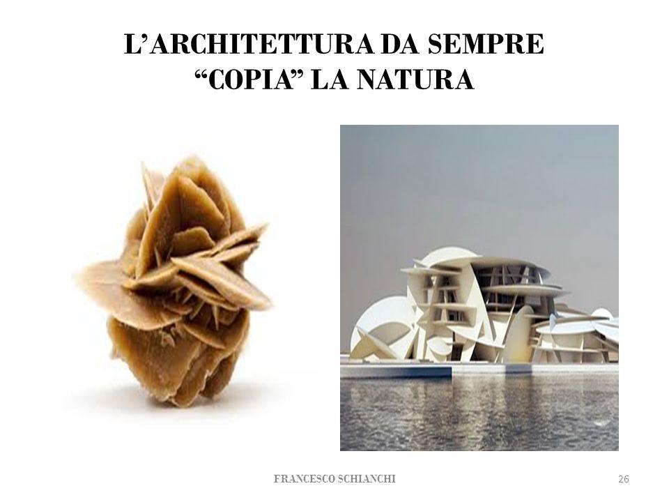 L'ARCHITETTURA DA SEMPRE COPIA LA NATURA