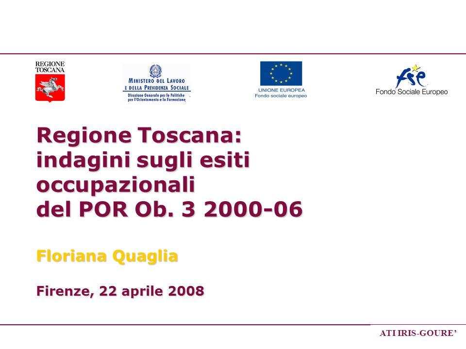 Regione Toscana: indagini sugli esiti occupazionali del POR Ob