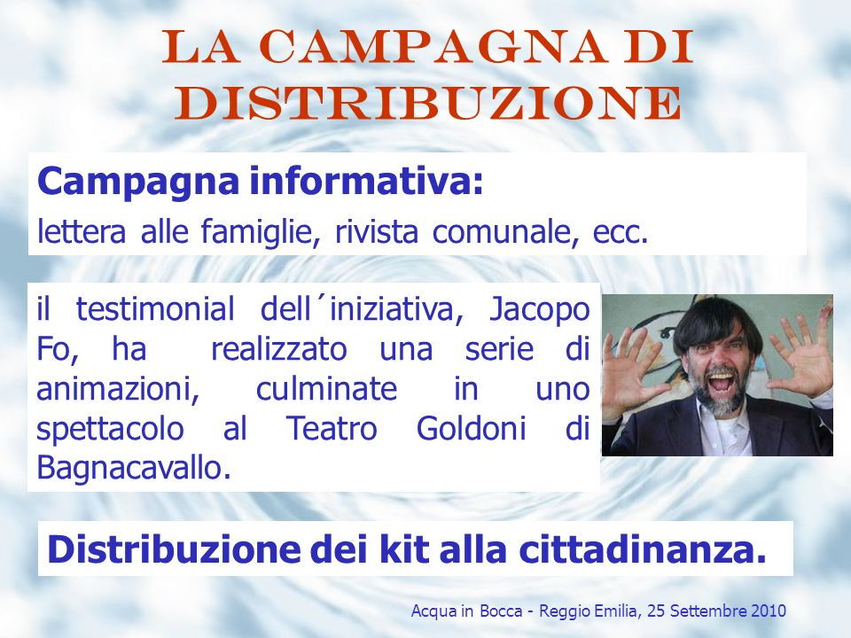 La campagna di distribuzione