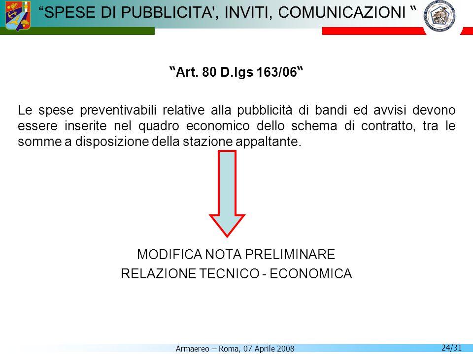 SPESE DI PUBBLICITA , INVITI, COMUNICAZIONI