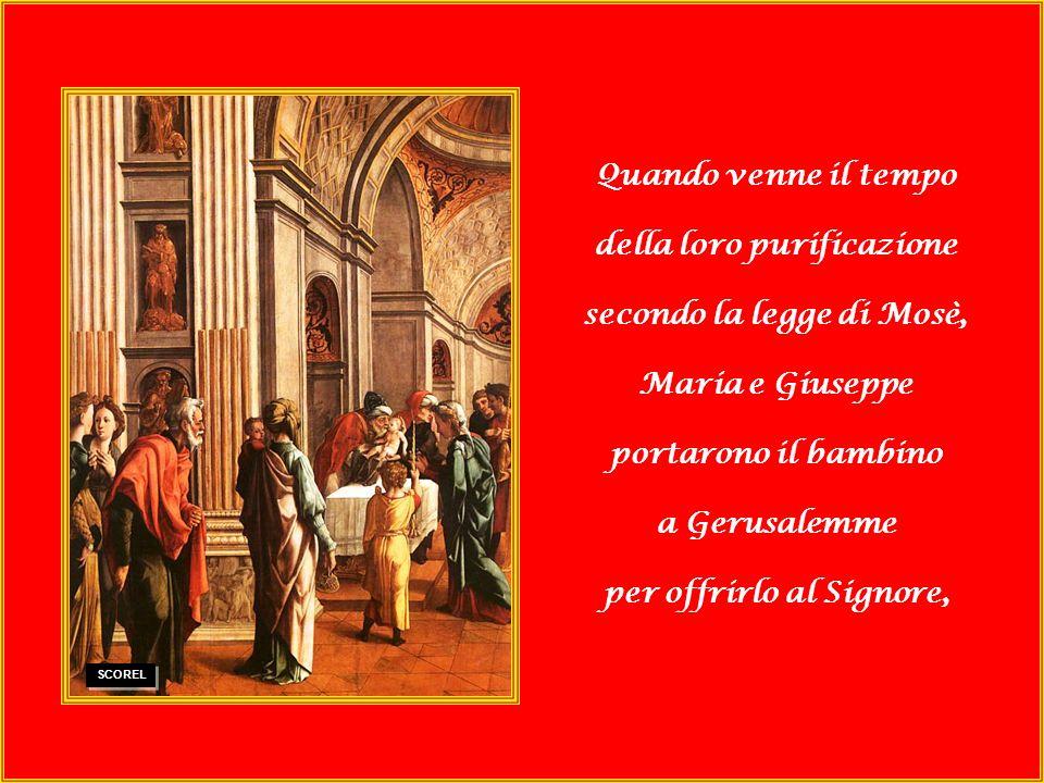 della loro purificazione secondo la legge di Mosè, Maria e Giuseppe