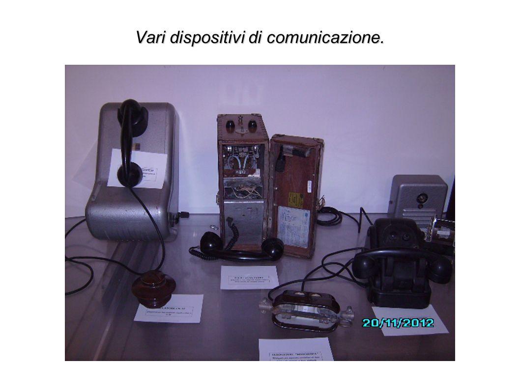 Vari dispositivi di comunicazione.