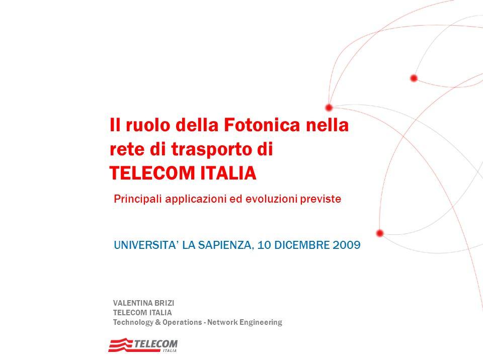 Il ruolo della Fotonica nella rete di trasporto di TELECOM ITALIA