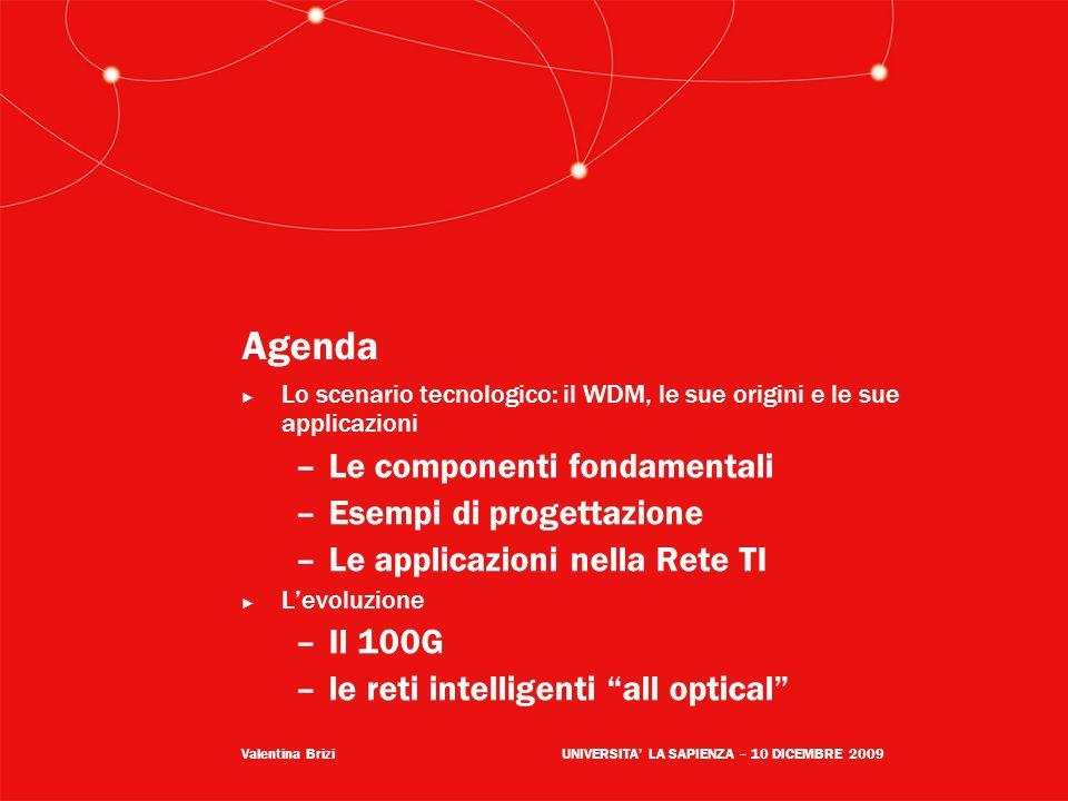 Agenda Le componenti fondamentali Esempi di progettazione
