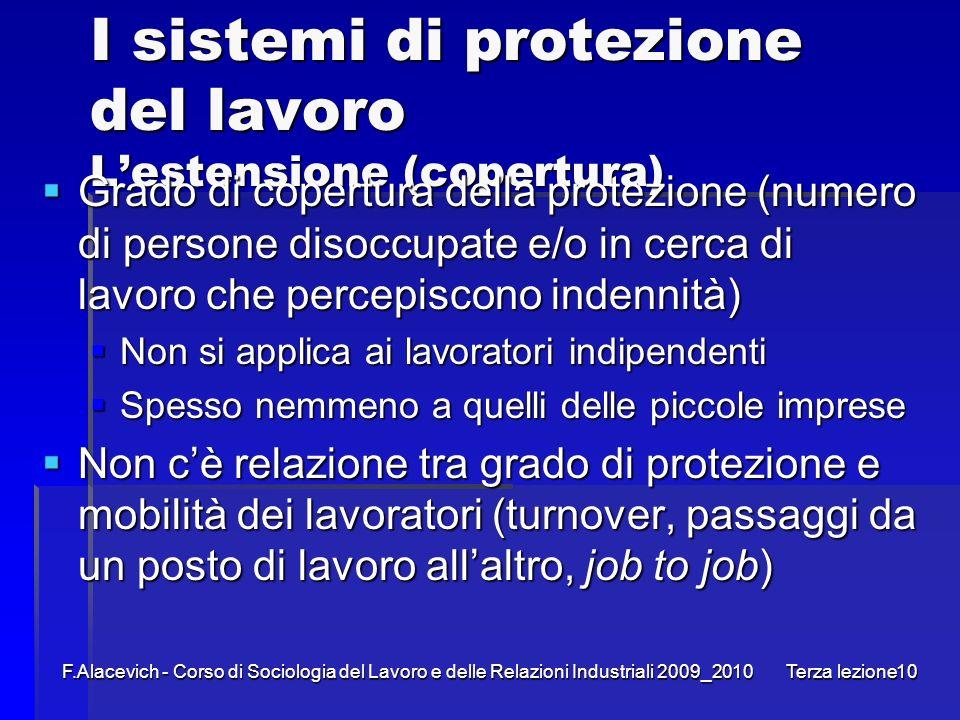 I sistemi di protezione del lavoro L'estensione (copertura)