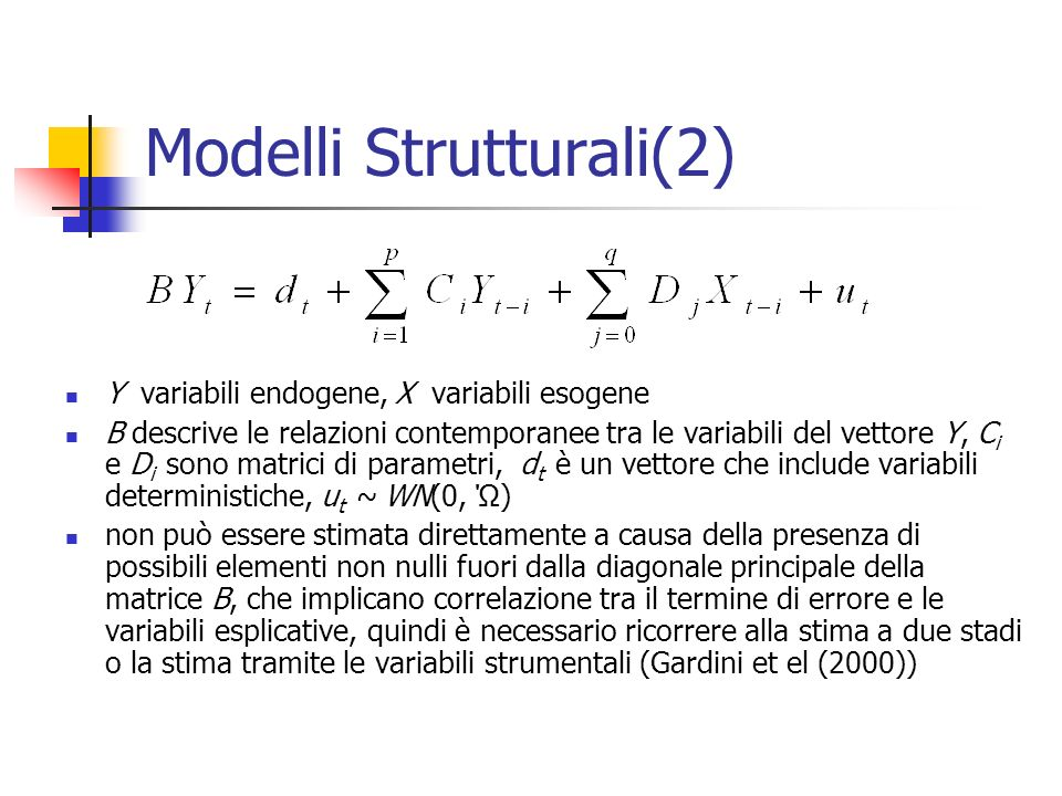 Modelli Strutturali(2)