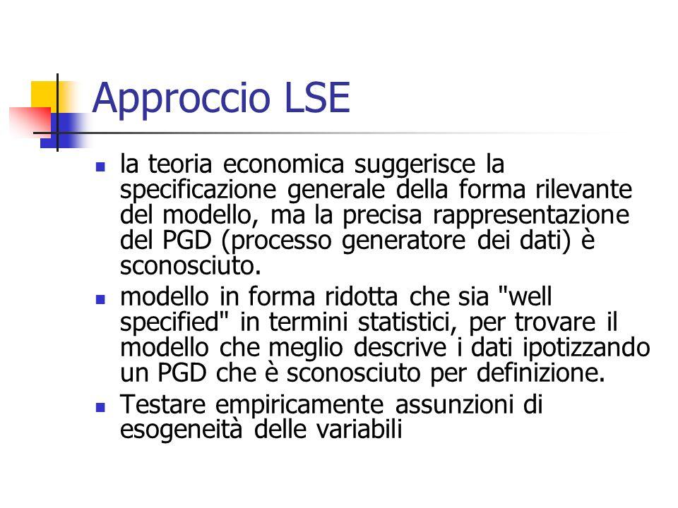 Approccio LSE