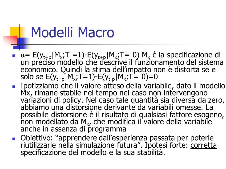 Modelli Macro