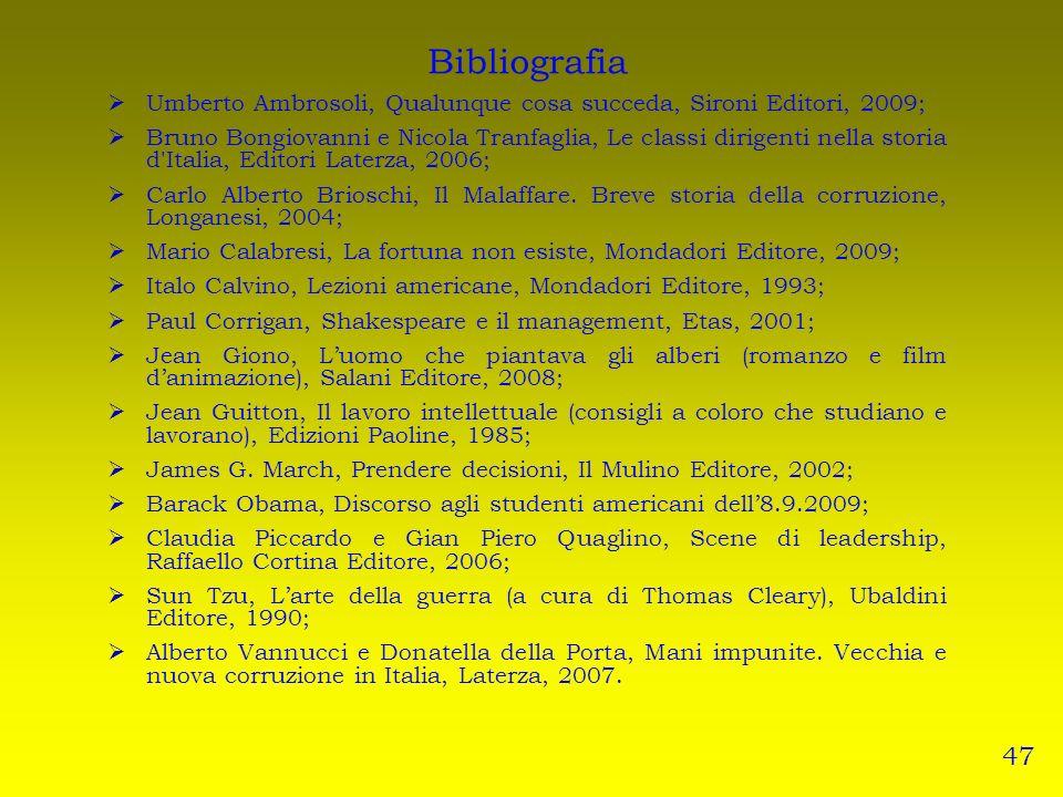 Bibliografia Umberto Ambrosoli, Qualunque cosa succeda, Sironi Editori, 2009;