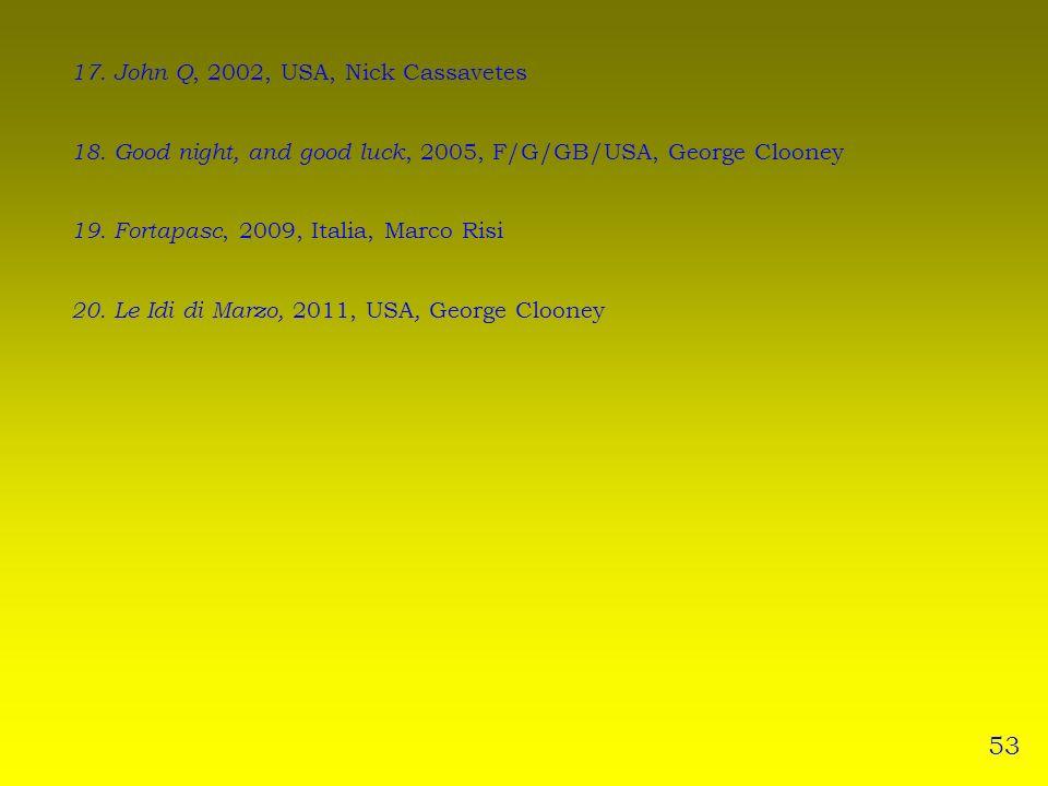53 17. John Q, 2002, USA, Nick Cassavetes