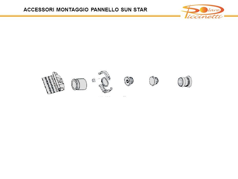 ACCESSORI MONTAGGIO PANNELLO SUN STAR