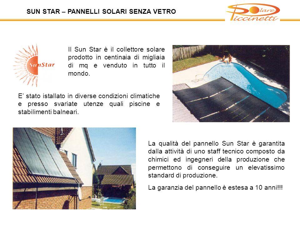 SUN STAR – PANNELLI SOLARI SENZA VETRO