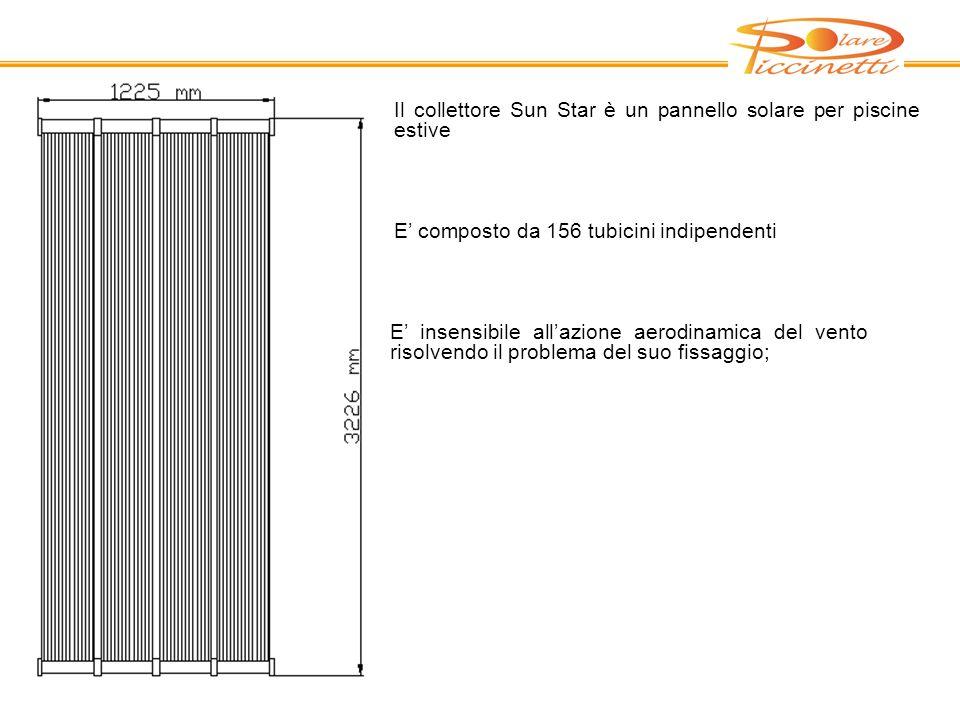 Il collettore Sun Star è un pannello solare per piscine estive