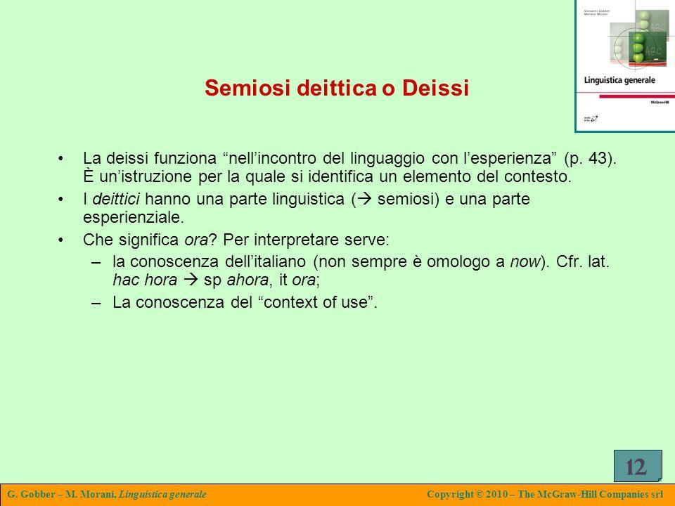 Semiosi deittica o Deissi