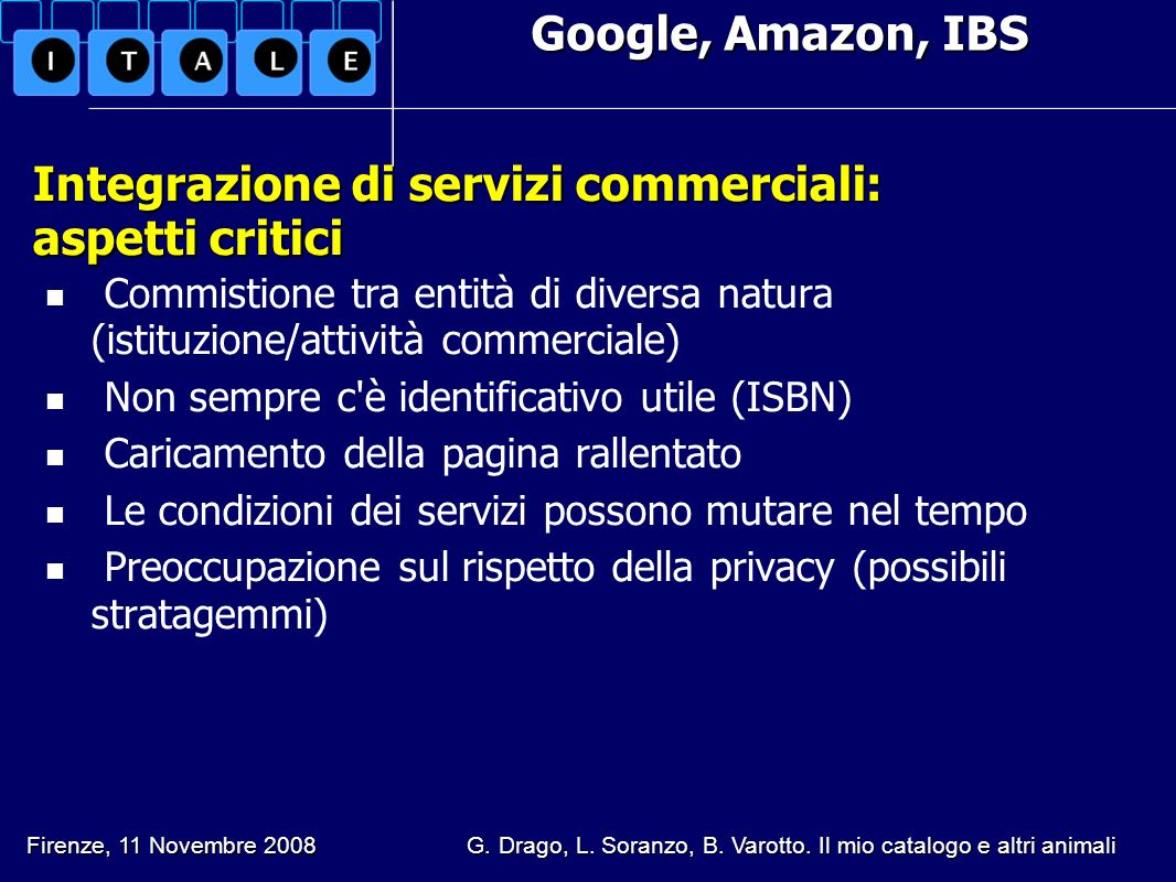Integrazione di servizi commerciali: aspetti critici