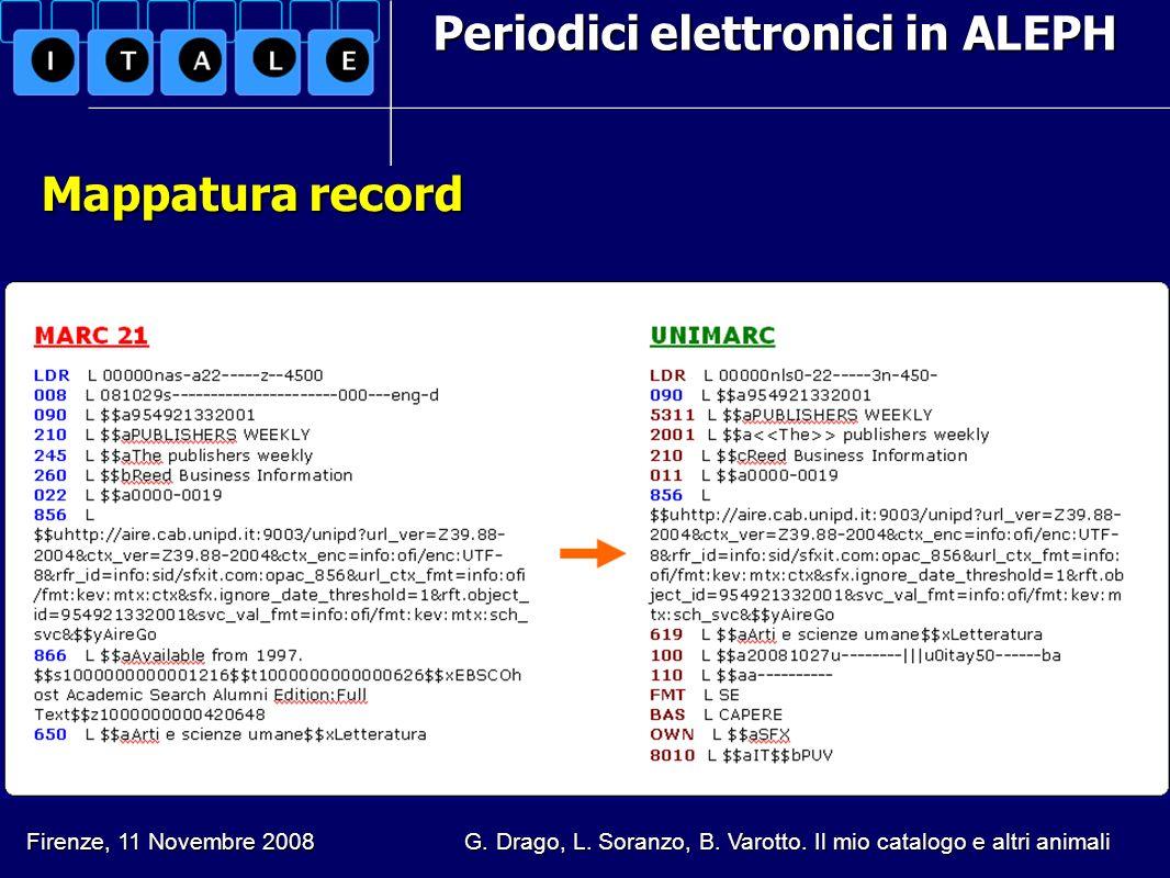 Periodici elettronici in ALEPH