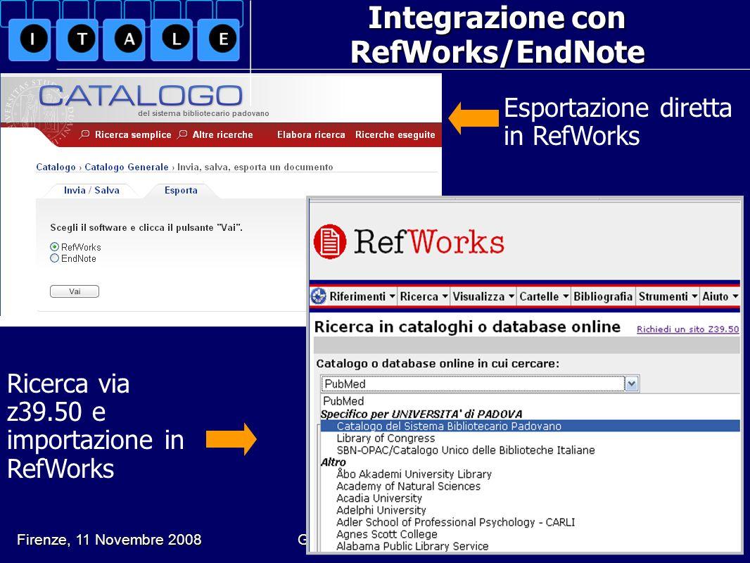 Integrazione con RefWorks/EndNote