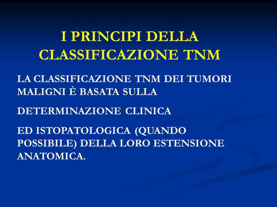 I PRINCIPI DELLA CLASSIFICAZIONE TNM