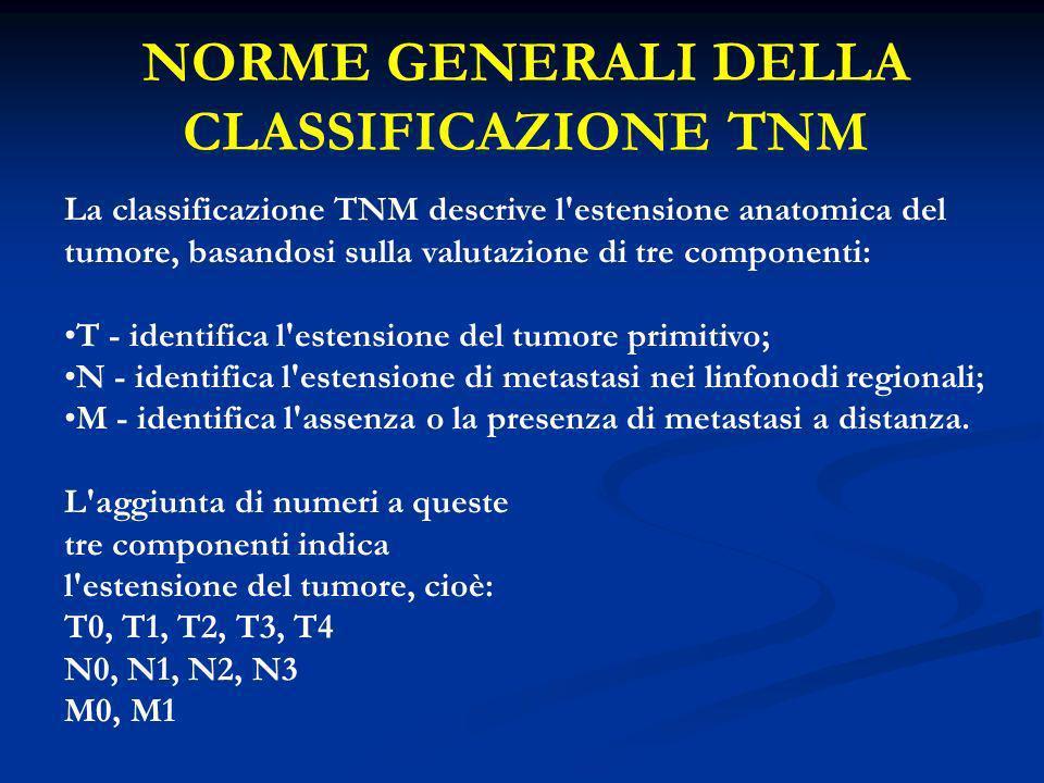 NORME GENERALI DELLA CLASSIFICAZIONE TNM