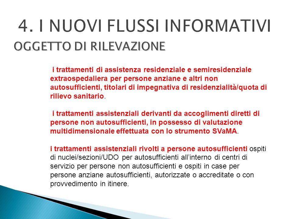 4. I NUOVI FLUSSI INFORMATIVI OGGETTO DI RILEVAZIONE
