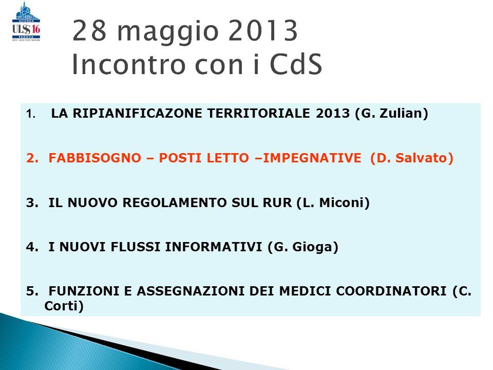 28 maggio 2013 Incontro con i CdS