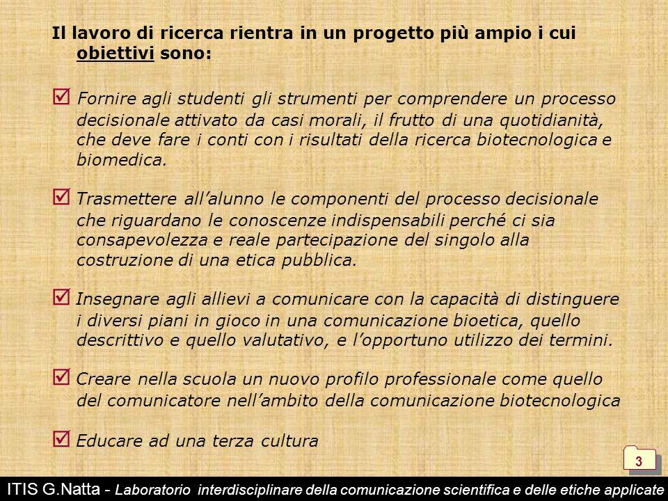 Educare ad una terza cultura