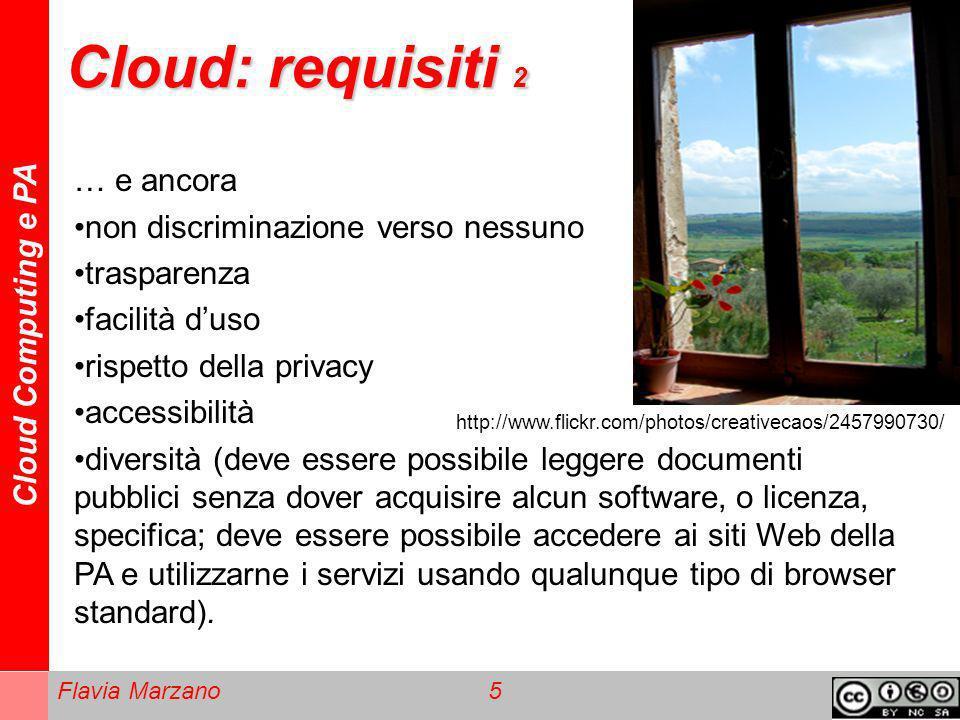Cloud: requisiti 2 … e ancora non discriminazione verso nessuno