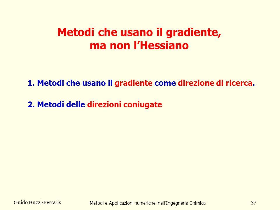 Metodi che usano il gradiente, ma non l'Hessiano