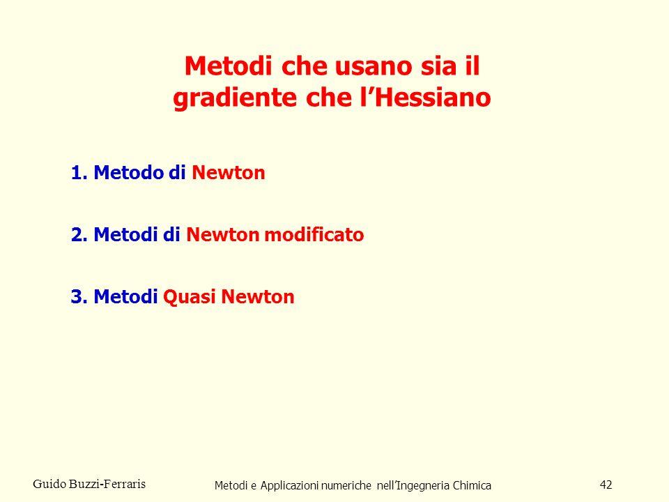Metodi che usano sia il gradiente che l'Hessiano