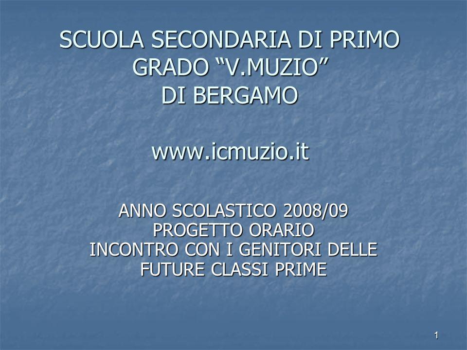 SCUOLA SECONDARIA DI PRIMO GRADO V.MUZIO DI BERGAMO www.icmuzio.it