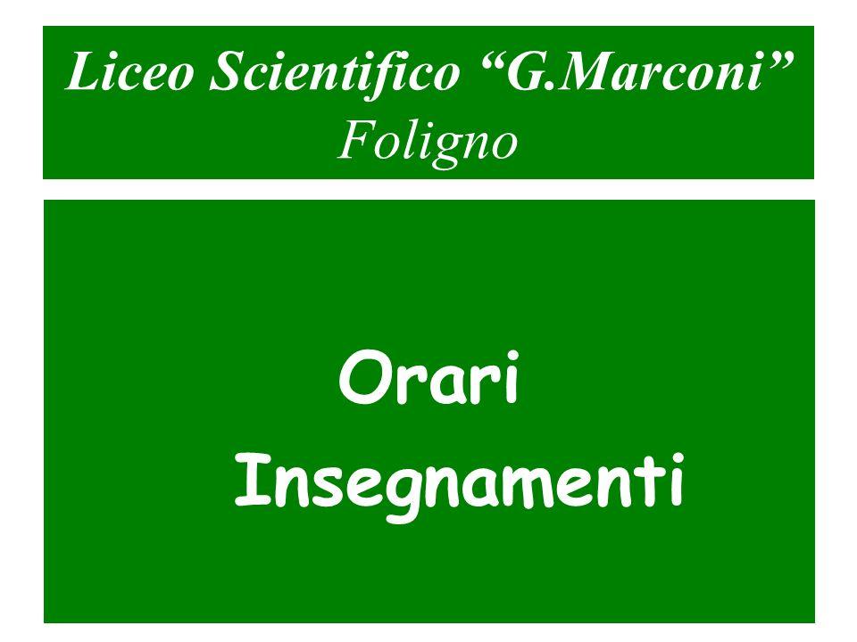 Liceo Scientifico G.Marconi Foligno