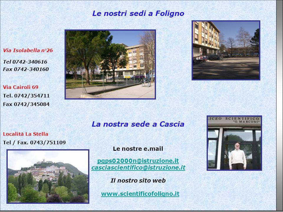 Le nostri sedi a Foligno