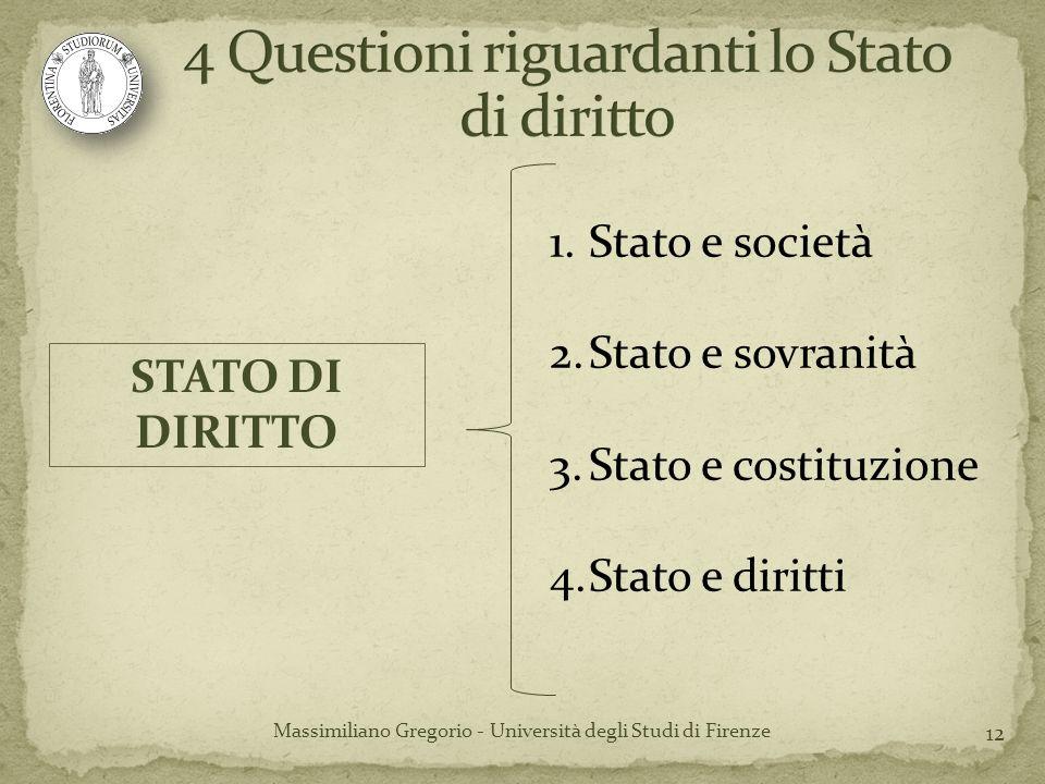 4 Questioni riguardanti lo Stato di diritto