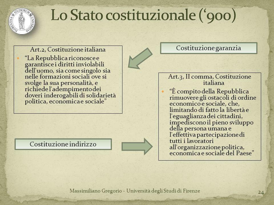 Lo Stato costituzionale ('900)