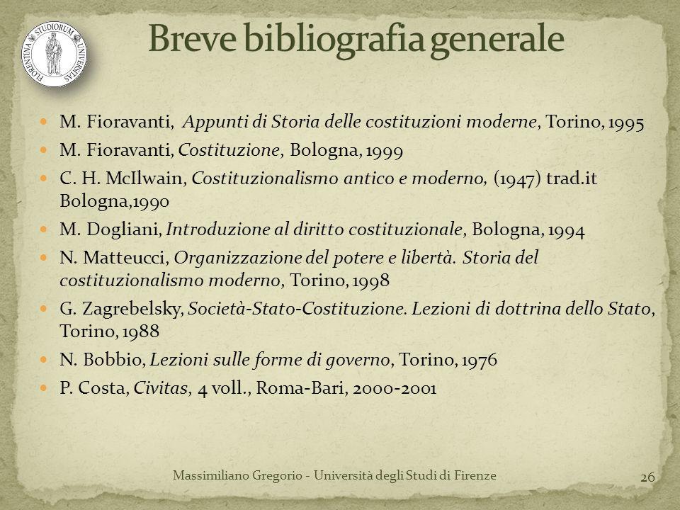 Breve bibliografia generale