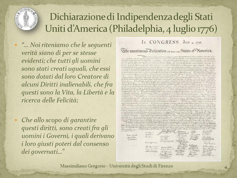 Massimiliano Gregorio - Università degli Studi di Firenze