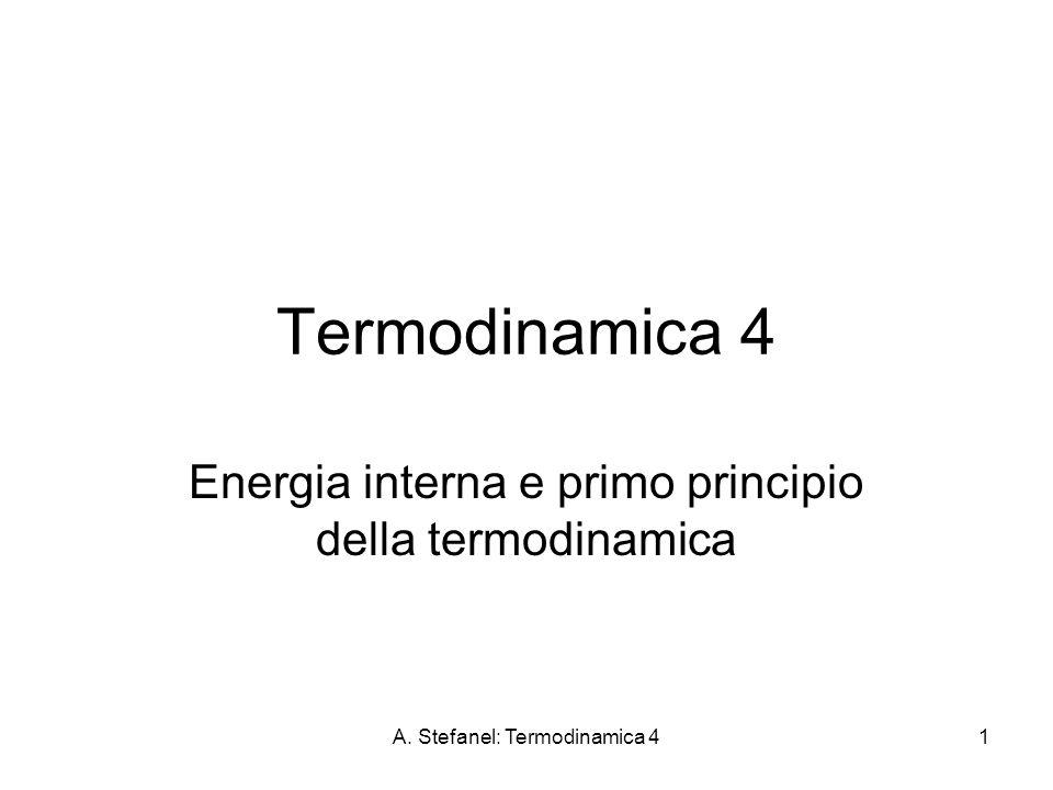 Energia interna e primo principio della termodinamica